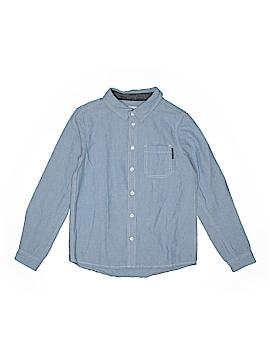 Polarn O. Pyret Long Sleeve Button-Down Shirt Size 8 -10