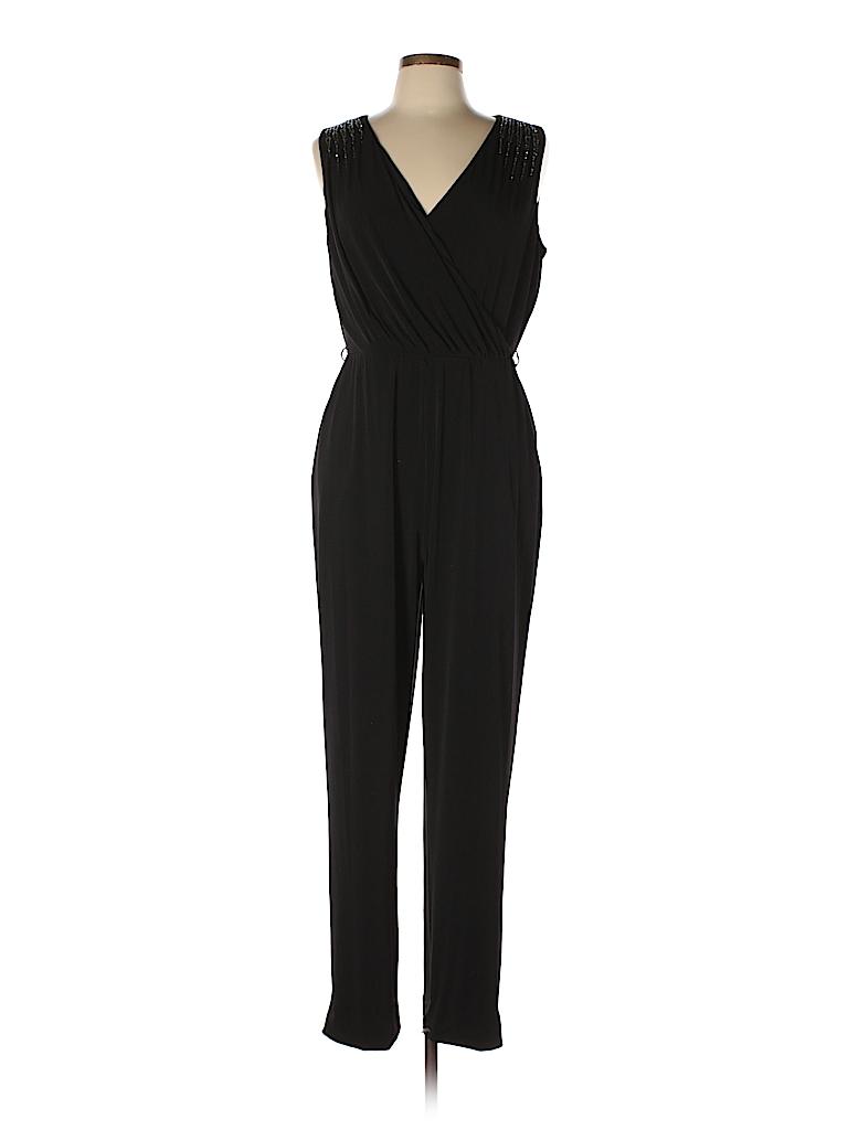 2c9f5fc6ee8e Calvin Klein Solid Black Jumpsuit Size 12 - 72% off