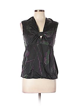 Mint Sleeveless Silk Top Size 8