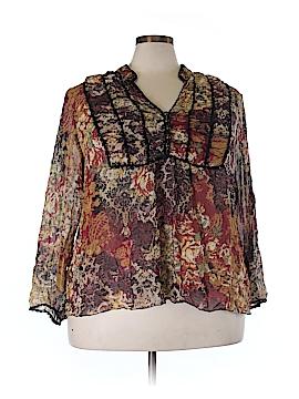 Lane Bryant Long Sleeve Silk Top Size 28 - 26 Plus (Plus)