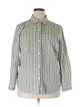 Koret Long Sleeve Button-Down Shirt Size 1X (Plus)