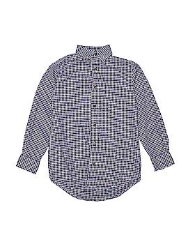 Classic Club Long Sleeve Button-Down Shirt Size 8