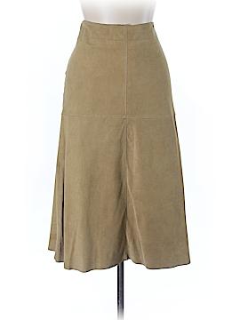 So Blue Sigrid Olsen Faux Leather Skirt Size 10