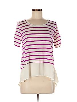 Tommy Hilfiger Women Short Sleeve Blouse Size M (Petite)