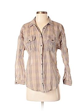 Line & Dot Long Sleeve Button-Down Shirt Size S
