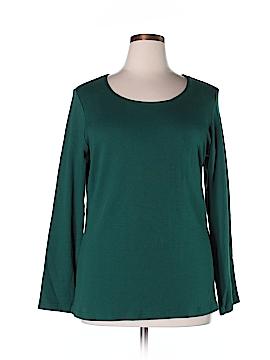 Karen Scott Long Sleeve T-Shirt Size 0X (Plus)
