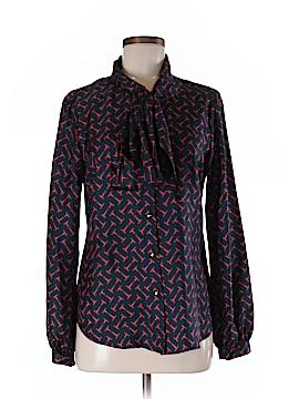 Elizabeth McKay Long Sleeve Silk Top Size 8