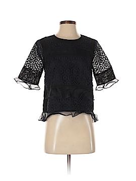 Rebecca Taylor Short Sleeve Blouse Size 0