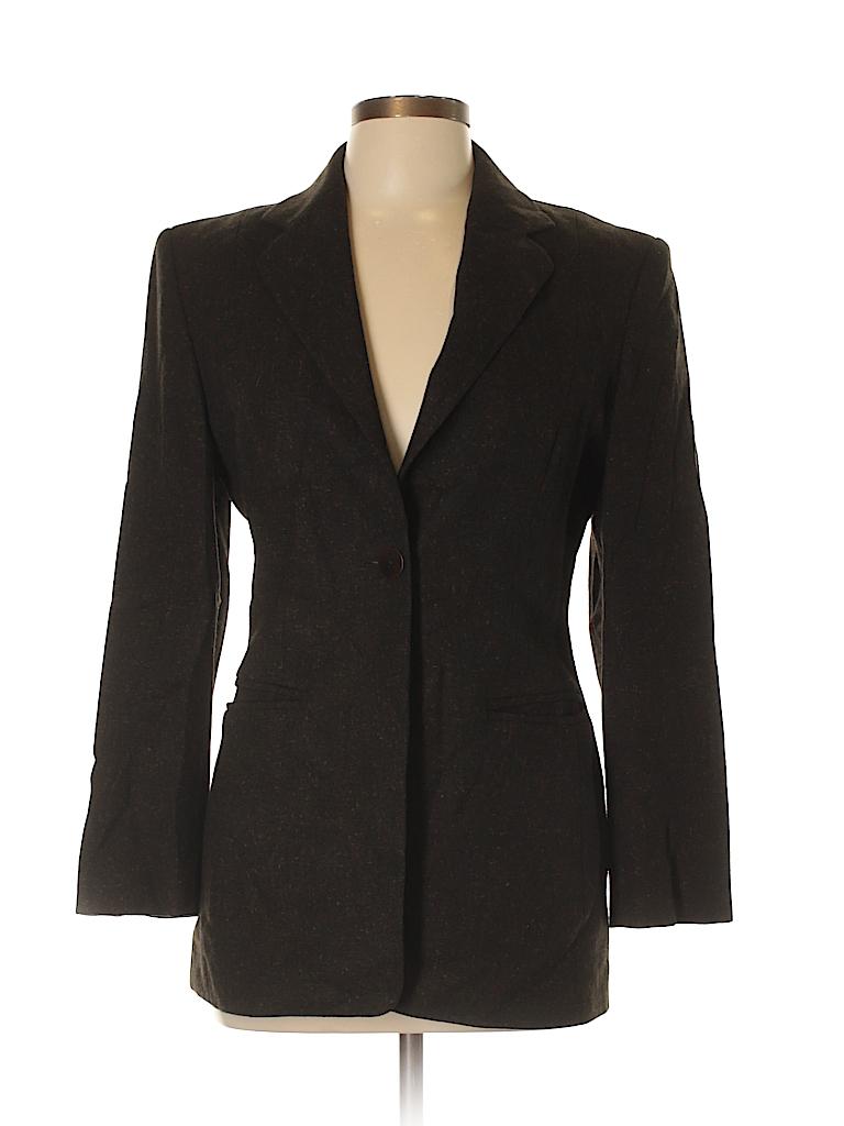 a3f1451bbd9fa Saks Fifth Avenue Solid Brown Wool Blazer Size 6 - 93% off