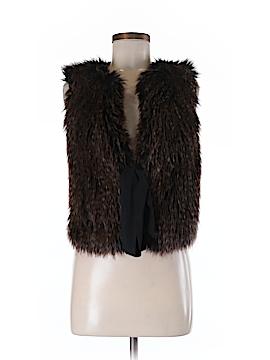 Ann Taylor Faux Fur Vest Size Med - Lg