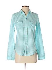 Hollister Women Long Sleeve Button-Down Shirt Size S