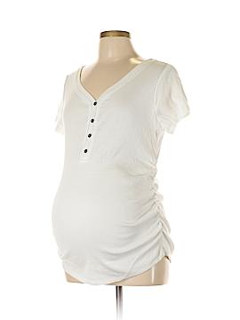 Inspire Maternity Short Sleeve Henley Size L (Maternity)