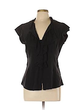 Nanette Lepore Short Sleeve Silk Top Size 12
