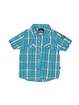 Boys Rock Short Sleeve Button-Down Shirt Size 4T