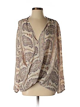 Calypso St. Barth Long Sleeve Silk Top Size S