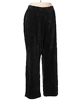Karen Scott Sport Velour Pants Size 2X (Plus)