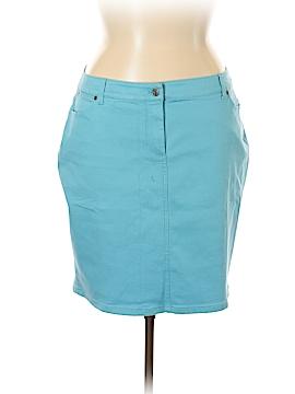 Talbots Denim Skirt Size 16