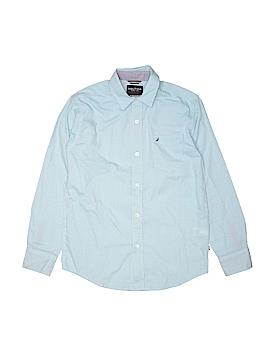 Nautica Long Sleeve Button-Down Shirt Size 10/12