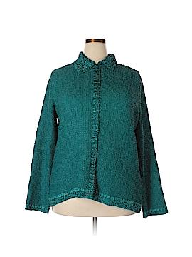 Susan Graver Long Sleeve Blouse Size XL
