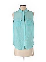 Banana Republic Factory Store Women Sleeveless Button-Down Shirt Size S