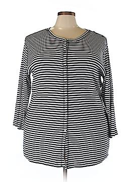 Avenue Long Sleeve Button-Down Shirt Size 26 Plus/28 Plus (Plus)