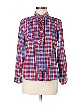 Talbots Long Sleeve Button-Down Shirt Size 8 (Petite)