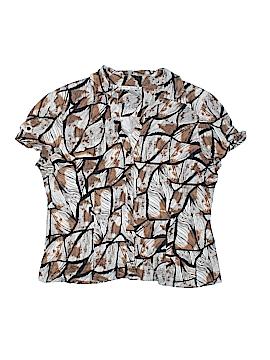 Fred David Short Sleeve Button-Down Shirt Size XL (Petite)