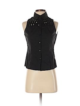 Samuel Dong Sleeveless Button-Down Shirt Size S