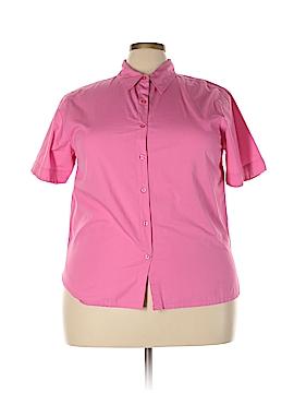 White Stag Short Sleeve Button-Down Shirt Size 18 - 20 Plus (Plus)