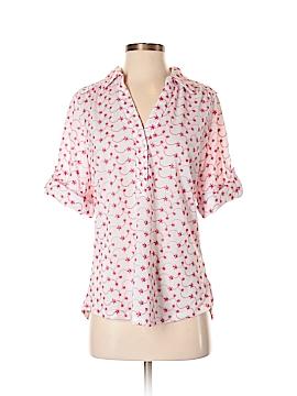 Rebecca Malone Short Sleeve Button-Down Shirt Size S