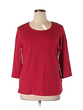 Karen Scott 3/4 Sleeve T-Shirt Size 0X (Plus)