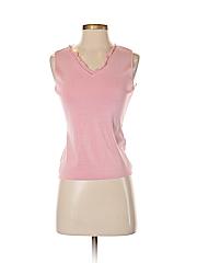 Casual Corner Women Sleeveless Silk Top Size S