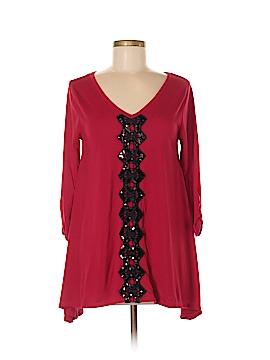August Silk Long Sleeve Top Size M