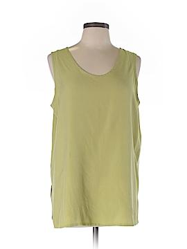 Avenue Sleeveless Silk Top Size 14 (Plus)