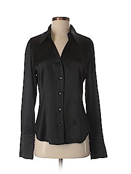 Saks Fifth Avenue Long Sleeve Silk Top Size 6