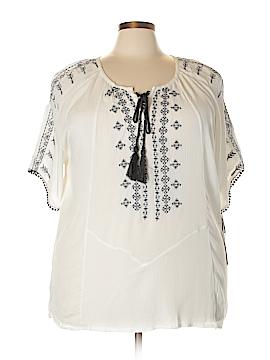 Dex Short Sleeve Blouse Size 3X (Plus)
