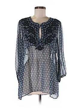 Calypso St. Barth 3/4 Sleeve Silk Top Size M