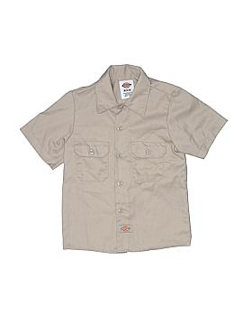 Dickies Short Sleeve Button-Down Shirt Size 6 - 8