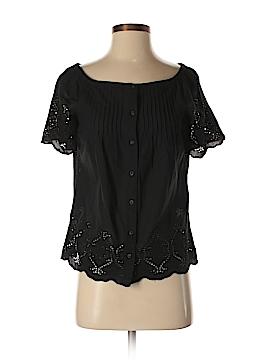Lauren by Ralph Lauren Short Sleeve Button-Down Shirt Size XS