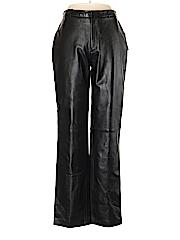 Jaclyn Smith Women Leather Pants Size 8