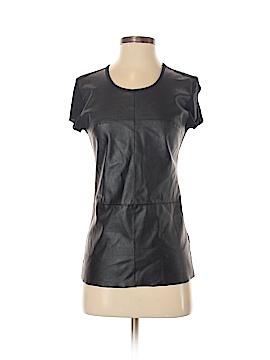 ABS Allen Schwartz Faux Leather Top Size S