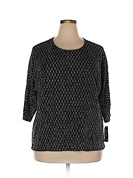 Alfani Short Sleeve Top Size 1X (Plus)