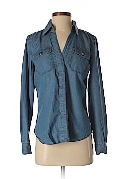 INC International Concepts Long Sleeve Button-Down Shirt Size 0