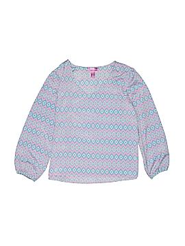 Aqua Long Sleeve Blouse Size L (Youth)