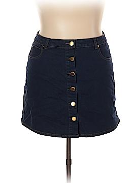 City Chic Denim Skirt Size 18 Plus (M) (Plus)