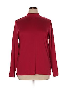 Karen Scott Sport Long Sleeve T-Shirt Size 1X (Plus)