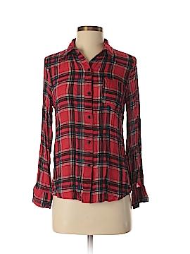 Dina Be Long Sleeve Button-Down Shirt Size S