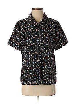 Norm Thompson Short Sleeve Blouse Size M
