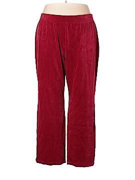 Karen Scott Sport Velour Pants Size 3X (Plus)