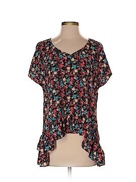 7th Avenue Design Studio New York & Company Short Sleeve Blouse Size S